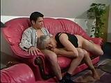 Duitse rijpe moeder met een jongere man