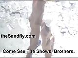 Flasching sex in duinen