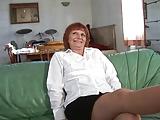 Hete Franse oma casting
