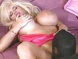 Peter North neukt vintage pornoster met grote nep tieten Lisa Lipps