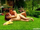 Wild en ranzige tuin sex